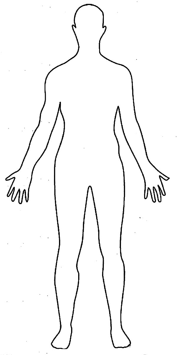 Human-Body-Outline-Drawing-Coloring-Pages - Element ... Outline Of A Human Body